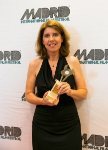 July 6, 2013: Suzanne accepts Best Unproduced Screenplay award in Madrid